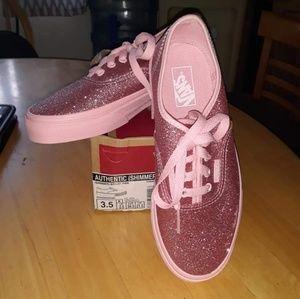 Shimmer Bright Pink Vans